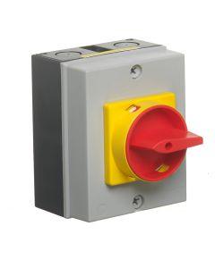 25 Amp Isolator Switch 4 Pole Rotary LB254P