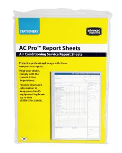Advanced Engineering AC Pro Air Conditioning and Refrigeration Report Sheets