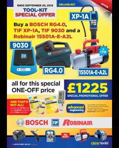 Deluxe-Kit Tools Bundle, Robinair RA15501A-E-A2L, Bosch RG4.0, TIF XP-1A, TIF9030
