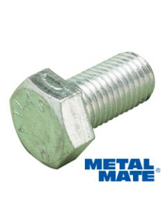 M8 x 40mm Hexagon Setscrew Bolt Zinc Plated Per 100