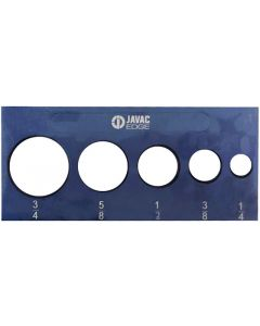 Designed to measure all flares to offer 100% seal tightness against all flare fittings, a must for every toolbox.  1/4, 3/8, 1/2, 5/8, 3/4 inch
