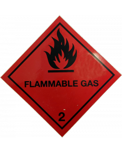 Red Flammable Sticker 5476 BOC