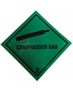Green Compressed Gas Sticker 5478 BOC