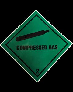 Green Compressed Gas Sticker 5478 BOC