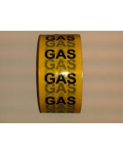 Pipe Services Identification Tape Gas