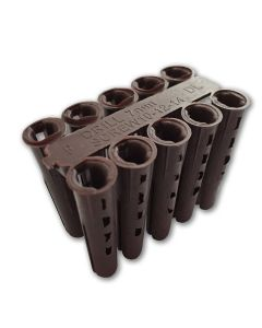 Brown Plugs (box Of 100) 0948tbrown