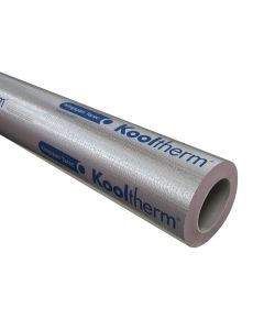 Kingspan Kooltherm Foil-FacedPhenolic Pipe Insulation 15mm thick, suitable for15mm diameter Pipe, 1 metre length