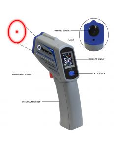 Mastercool 52224-A Hand Held Infra Red Laser Thermometer