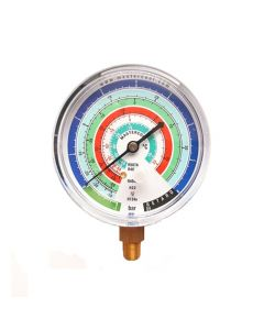 Mastercool MBL Gauge 80mm Low Pressure Bar/C R22-134a-404/7-507