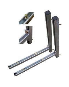 Cantilever Arm Wall Bracket Kit - 2 x 600mm Arm 2 x 750mm Vertical Steel