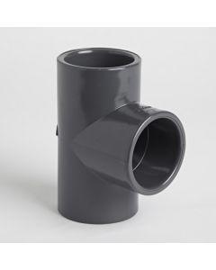 Grey Pvcu 3/4 Inch Pressure Pipe Equal Tee