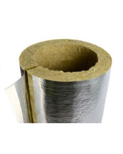 Rockwool 20mm Thick 17mm Bore Foil Faced Pipe Insulation x 1 metre