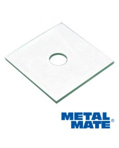 M10 x 40 x 3mm Square Plate Washer Zinc Plated BS4310 Per 100