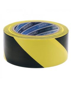 Draper 63382 33m x 50mm Black and Yellow Adhesive Hazard Tape Roll